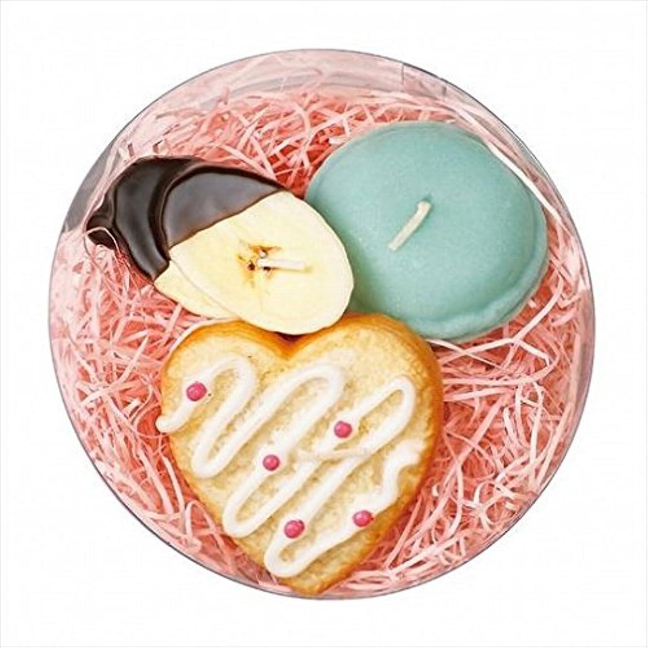 sweets candle(スイーツキャンドル) プチスイーツキャンドルセット 「 シュガーハート 」 キャンドル 100x100x55mm (A6366050)
