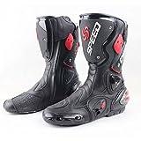 Best メンズライディングブーツ - SPEED BIKERS レーシングブーツ バイク用ブーツ メンズオートバイ靴 プロテクトスポーツブーツ バイク用靴 ライディングシューズ (26.5-27cm)43サイズ ブラック Review