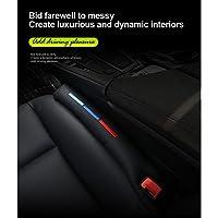 S - WEKA 2 PCS M线 車内 隙間 落下防止 シート サイド ピロー クッション 本革 レザー 仕様 2本セット (グレー)