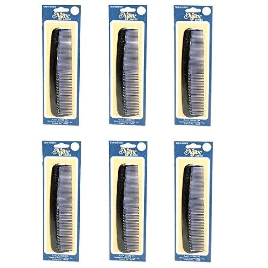 行く否定するこっそりAjax Unbreakable Hair Combs Super Flexible Pocket Sized Lifetime Guarantee - Proudly Made in the USA (Pack of...