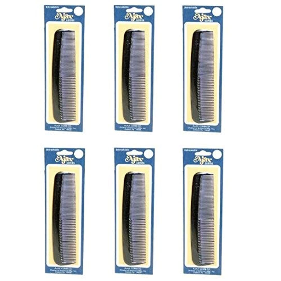 グリット控える凍ったAjax Unbreakable Hair Combs Super Flexible Pocket Sized Lifetime Guarantee - Proudly Made in the USA (Pack of...