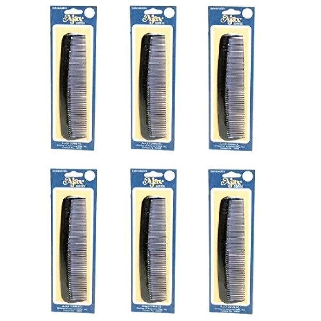 永久疎外するラフトAjax Unbreakable Hair Combs Super Flexible Pocket Sized Lifetime Guarantee - Proudly Made in the USA (Pack of...