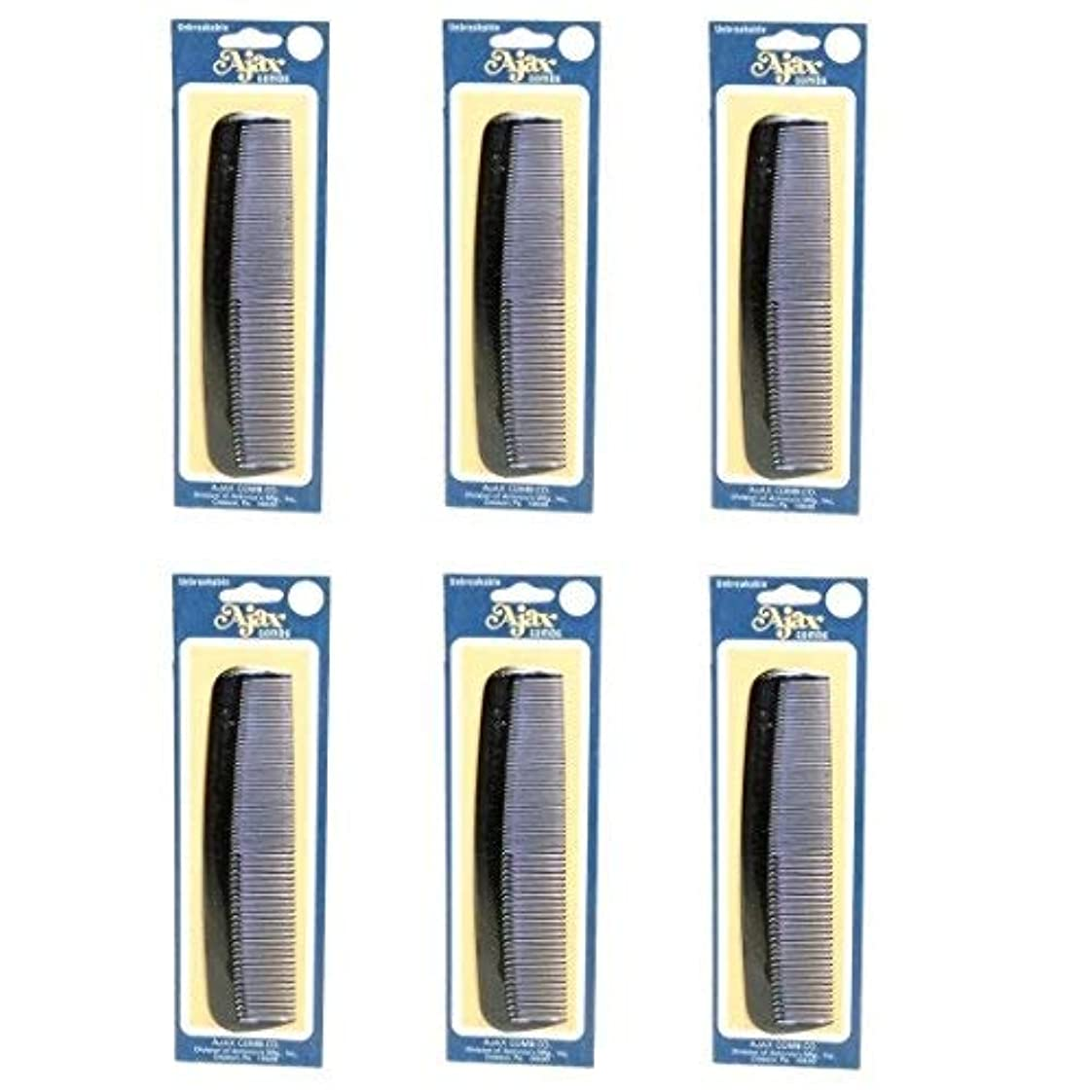 Ajax Unbreakable Hair Combs Super Flexible Pocket Sized Lifetime Guarantee - Proudly Made in the USA (Pack of...