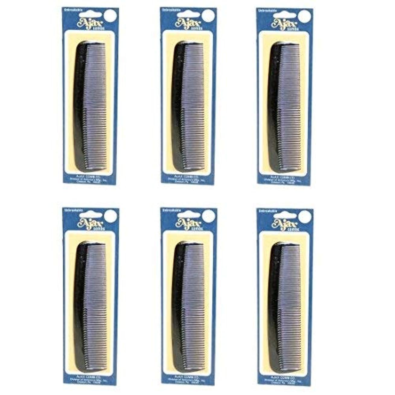脆いコンパクトわなAjax Unbreakable Hair Combs Super Flexible Pocket Sized Lifetime Guarantee - Proudly Made in the USA (Pack of...