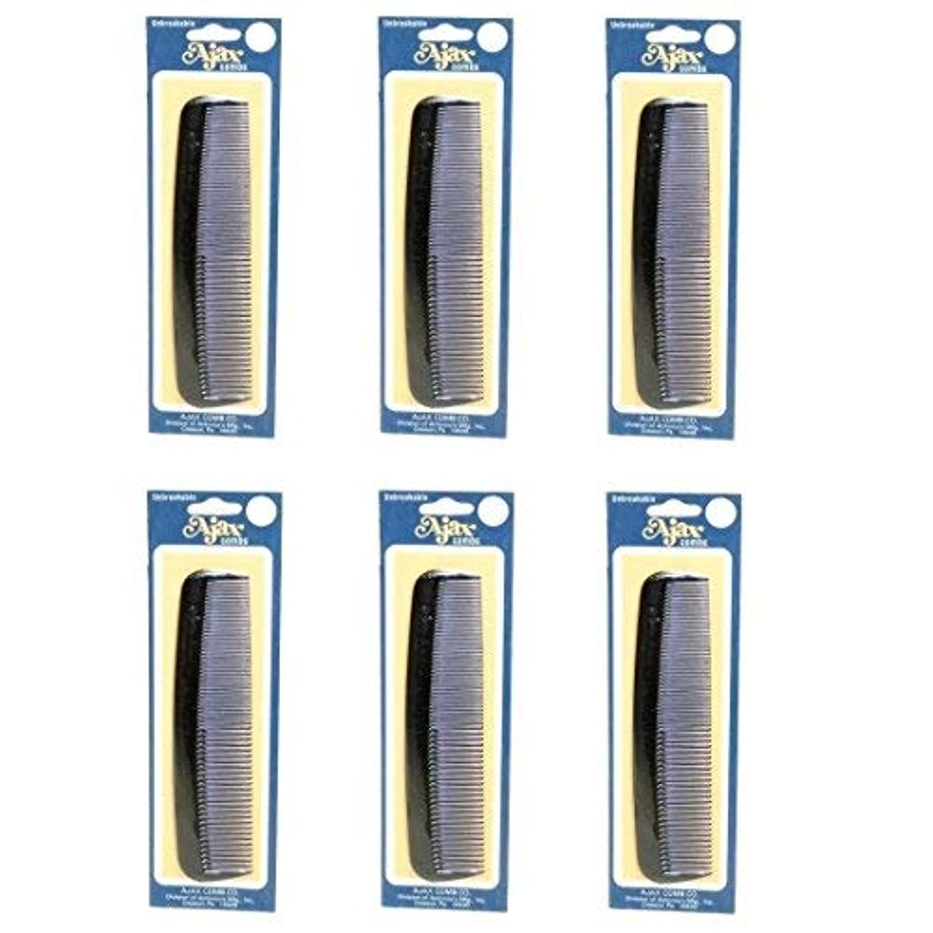 ひどく記念品威信Ajax Unbreakable Hair Combs Super Flexible Pocket Sized Lifetime Guarantee - Proudly Made in the USA (Pack of...