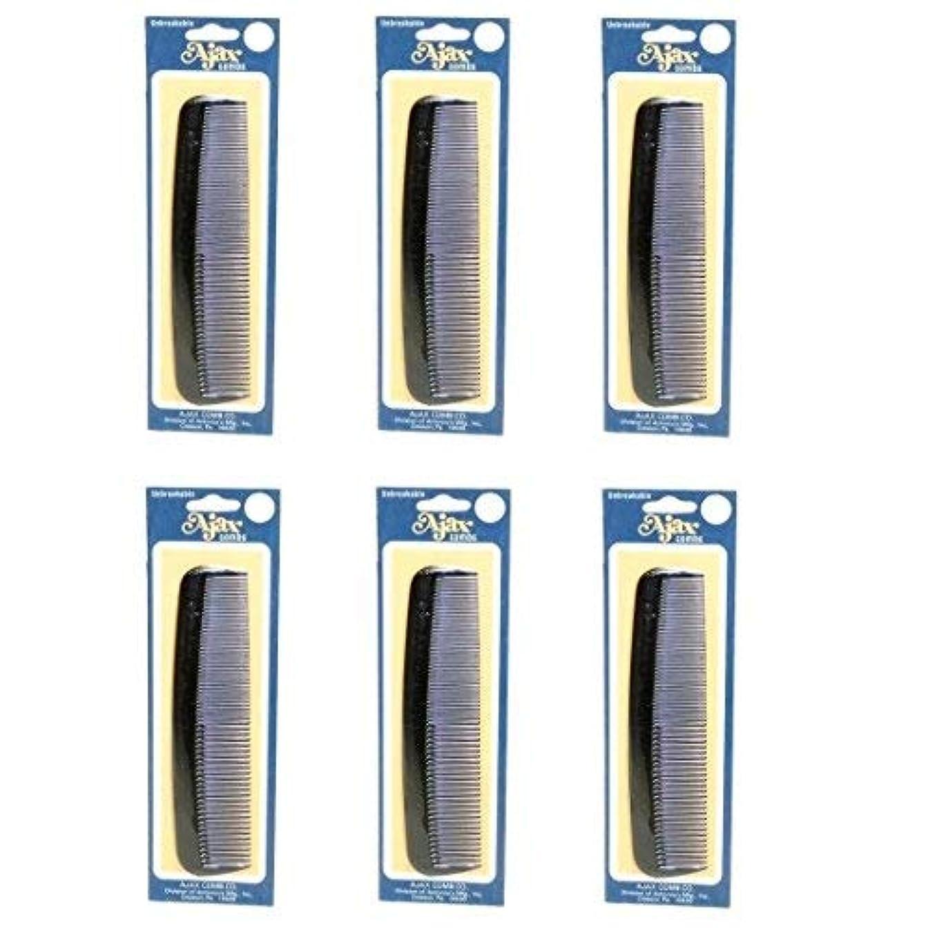 アジテーションそれぞれ偏心Ajax Unbreakable Hair Combs Super Flexible Pocket Sized Lifetime Guarantee - Proudly Made in the USA (Pack of...