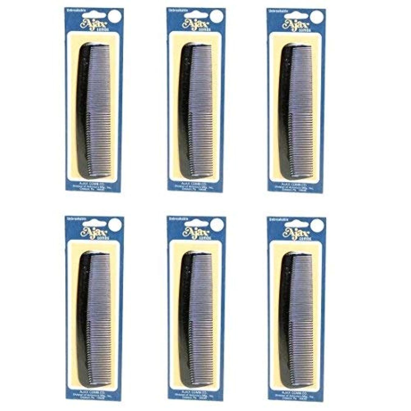 供給アラームシーフードAjax Unbreakable Hair Combs Super Flexible Pocket Sized Lifetime Guarantee - Proudly Made in the USA (Pack of...