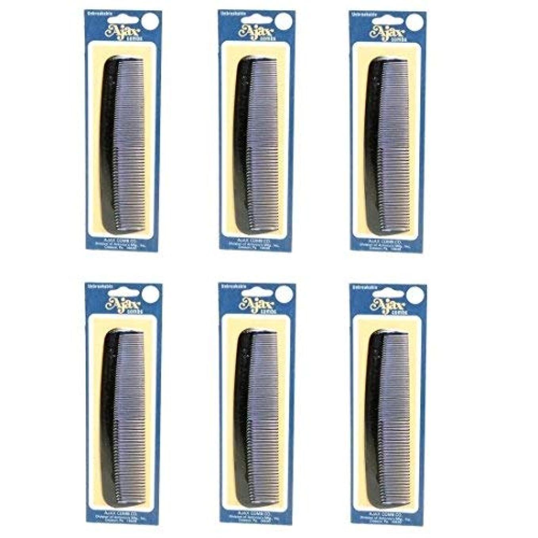 雑多なメンタリティ反対するAjax Unbreakable Hair Combs Super Flexible Pocket Sized Lifetime Guarantee - Proudly Made in the USA (Pack of...