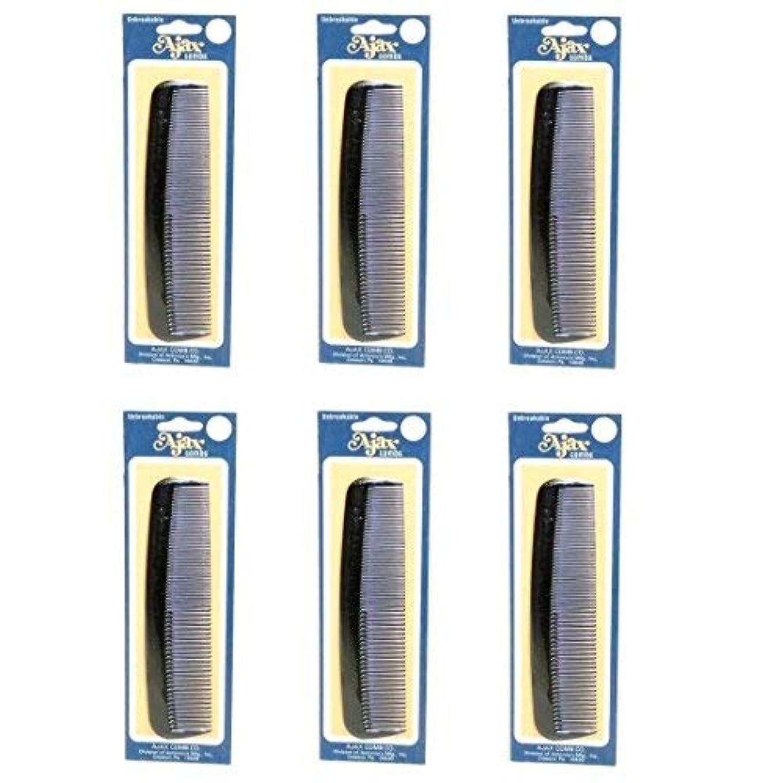 系譜ほとんどない失態Ajax Unbreakable Hair Combs Super Flexible Pocket Sized Lifetime Guarantee - Proudly Made in the USA (Pack of...