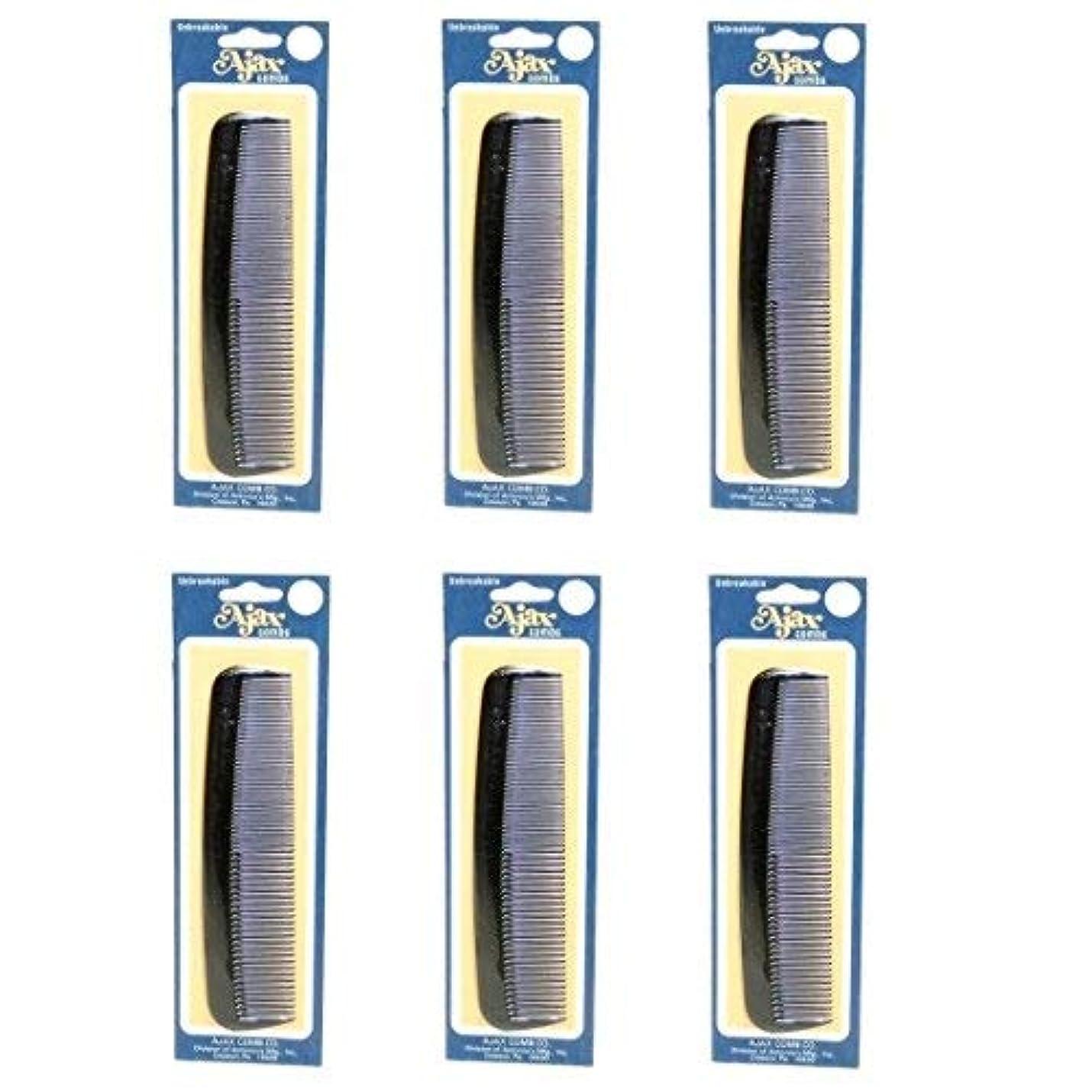 航空会社ヘリコプター退屈させるAjax Unbreakable Hair Combs Super Flexible Pocket Sized Lifetime Guarantee - Proudly Made in the USA (Pack of...