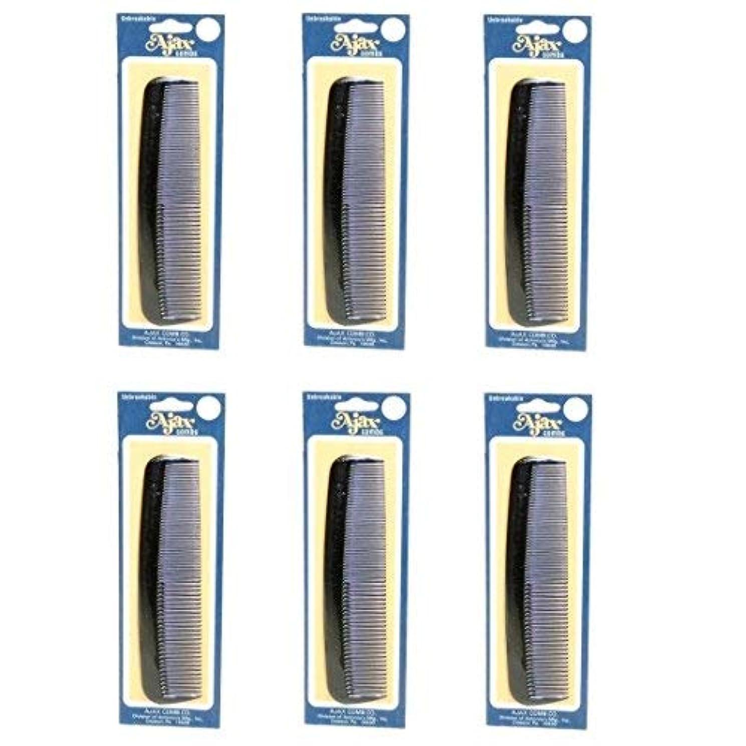 欺製造業豊かなAjax Unbreakable Hair Combs Super Flexible Pocket Sized Lifetime Guarantee - Proudly Made in the USA (Pack of...