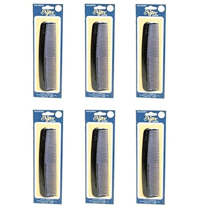 欠乏実際に割合Ajax Unbreakable Hair Combs Super Flexible Pocket Sized Lifetime Guarantee - Proudly Made in the USA (Pack of...