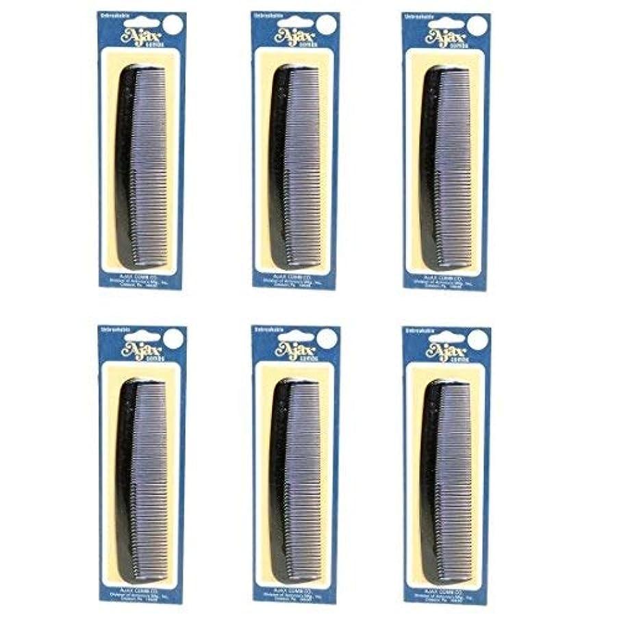 死すべき手足記念Ajax Unbreakable Hair Combs Super Flexible Pocket Sized Lifetime Guarantee - Proudly Made in the USA (Pack of...