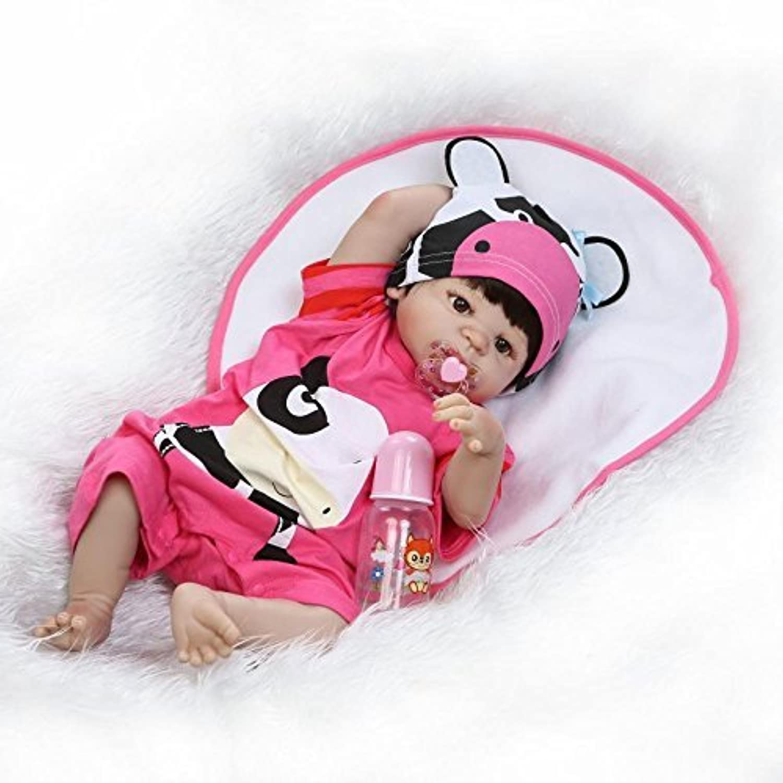 NKol リボーンドールズ ハンドメイド 生きているような新生児の人形 (シリコーン製フルボディ 防水) 22インチ 56cm 重量のある男の子または女の子のシミュレーション用おもちゃ
