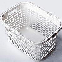 ZZHF xiyilan ストレージバスケットバスランドリーストレージバスケット雑貨ストレージバスケットハンドルプラスチック バスケット (色 : 白, サイズ さいず : 44 * 32 * 27cm)
