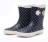 (Wansi) レディース ミドル レイン ブーツ シューズ レインブーツ 雨靴 長靴 長ぐつ 梅雨対策 滑り止め レインシューズ レイングッズ ビジネス アウトドア おしゃれ 雨靴 ブルー 22.5cm