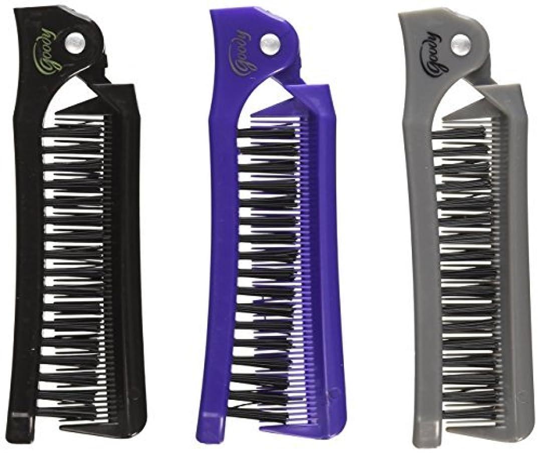 ルールお肉課すGoody Style On The Go Folding Brush & Comb, Colors May Vary 1 ea (Pack of 3) [並行輸入品]