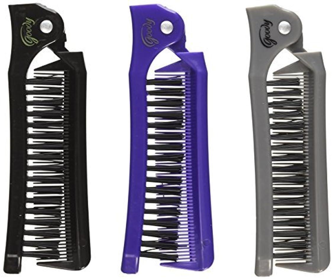 テナント後医学Goody Style On The Go Folding Brush & Comb, Colors May Vary 1 ea (Pack of 3) [並行輸入品]