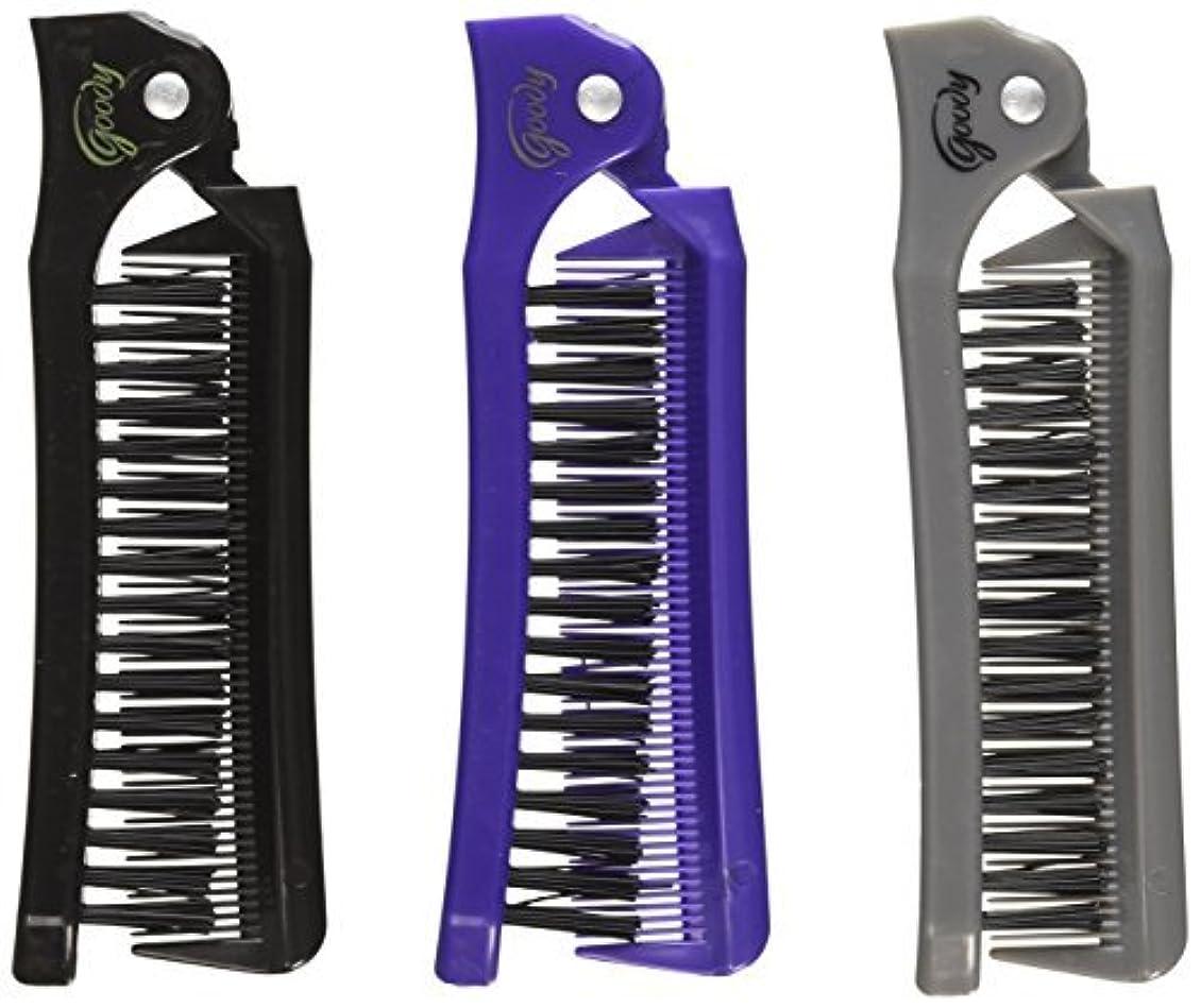 月責カレッジGoody Style On The Go Folding Brush & Comb, Colors May Vary 1 ea (Pack of 3) [並行輸入品]