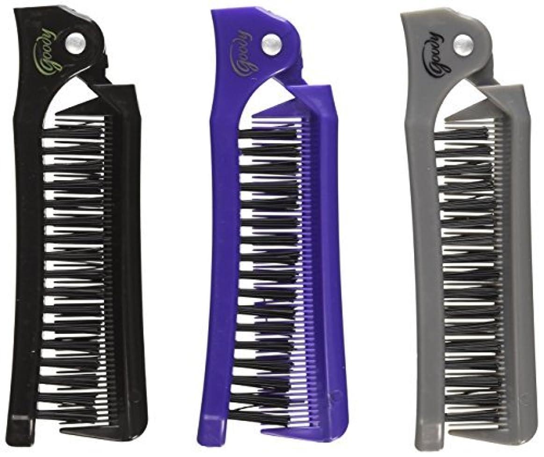 楽な光景イブGoody Style On The Go Folding Brush & Comb, Colors May Vary 1 ea (Pack of 3) [並行輸入品]