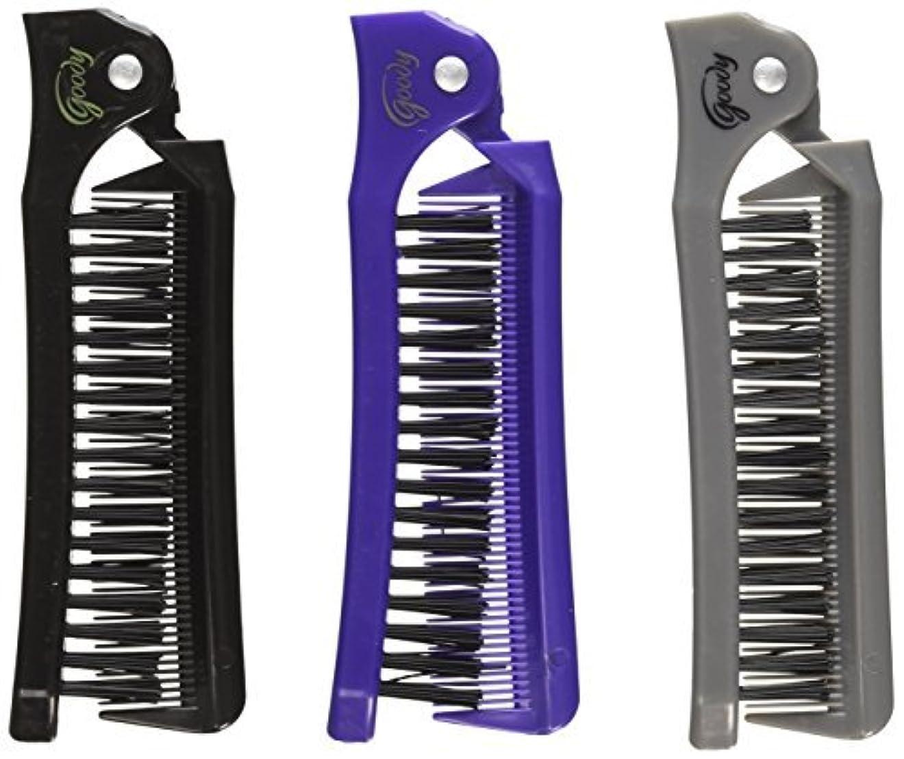 縫い目止まる砦Goody Style On The Go Folding Brush & Comb, Colors May Vary 1 ea (Pack of 3) [並行輸入品]
