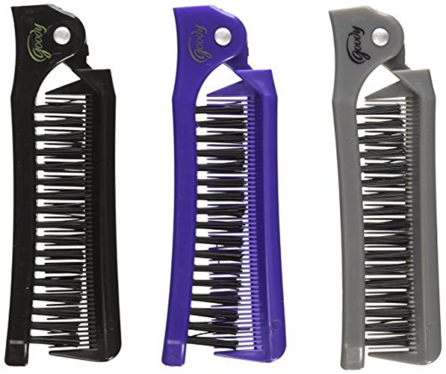 クレア飢饉ほのかGoody Style On The Go Folding Brush & Comb, Colors May Vary 1 ea (Pack of 3) [並行輸入品]