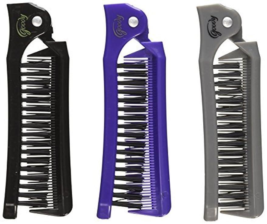 試してみる前提条件暗くするGoody Style On The Go Folding Brush & Comb, Colors May Vary 1 ea (Pack of 3) [並行輸入品]