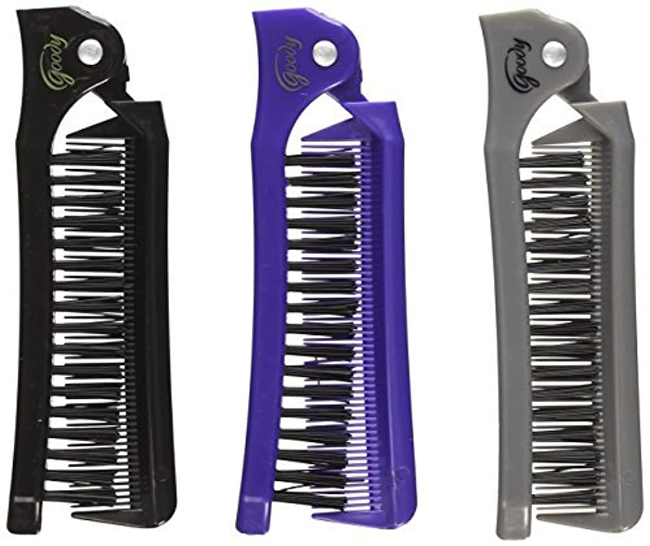 Goody Style On The Go Folding Brush & Comb, Colors May Vary 1 ea (Pack of 3) [並行輸入品]