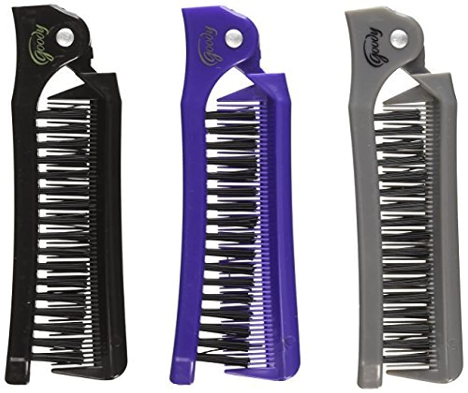 所属耕すご予約Goody Style On The Go Folding Brush & Comb, Colors May Vary 1 ea (Pack of 3) [並行輸入品]