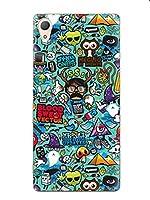 [アイ・エス・ピー]isp 正規品 Sony Xperia Z5 エクスペリア Z5 専用ケース カバー スリムケース 装着簡単 多彩 キリン 動物 植物 カラフル プレゼント キュート