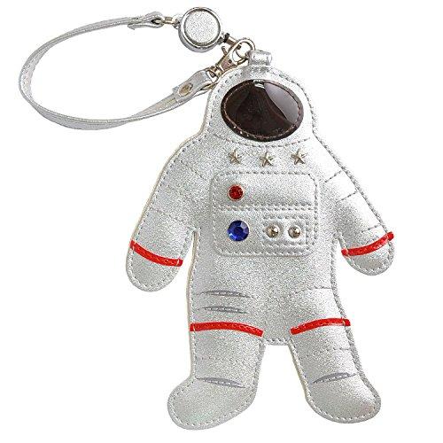 パスケース かわいい リール付き 定期入れ 宇宙飛行士 ダイカット カード入れ レディース おもしろ PU レザ...