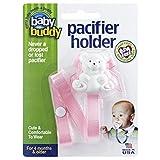 Baby Buddy(ベビーバディ) Baby Buddy ベビー バディ Bear Pacifier Holder ホワイトベア マルチ クリップ(シングル) 【アメリカ製】 Light pink ライトピンク