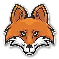 2 x 30cm 狐 - ノートPCやタブレット用ビニールステッカー #5999