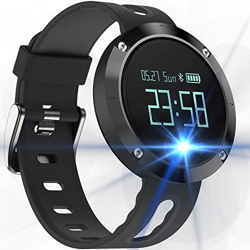 スマートウォッチ 心拍計 活動量計 血圧測定 歩数計 スマートブレスレット 腕時計型 消費カロリー 睡眠検測 健康統計 着信 電話通知 SMS通知 LINE通知 IP67防水 日本語取扱説明書 iphone&Android対応 + 保護フィルム (A)