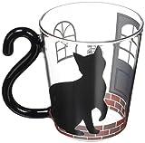 アルタ マグカップ ガラス 黒猫ハウス st.57 H9.5×W11.5(飲み口Φ8.5) マグカップル AR0604161