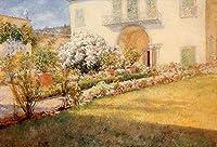 手描き-キャンバスの油絵 - Florentine Villa William Merritt Chase 芸術 作品 洋画 ウォールアートデコレーション -サイズ03