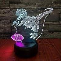 Wxmca 3D Nightlight Visual 7色ランプコントロールタッチUsbギフトナイトライト