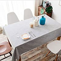 HY テーブルクロス和風コットンプレーンシンプルなテーブルクロスソリッドカラーコーヒーテーブルレストランテーブルクロス (Color : Light grey, Size : W140CM*L180CM)