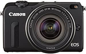 Canon ミラーレス一眼カメラ EOS M2 EF-M18-55 IS STM レンズキット(ブラック) EF-M18-55mm F3.5-5.6 IS STM 付属  EOSM2BK-1855ISSTMLK