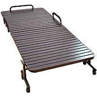 タンスのゲン ベッド下収納も出来る ワイドハイタイプ すのこベッド 33枚 シングル ブラウン 17700002 BR