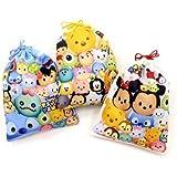 ディズニー ツムツム 大判 巾着袋 3種類柄3枚1セット きんちゃくふくろ Disney(ディズニー)