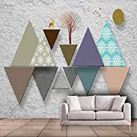 Xueshao カスタム北欧3D幾何学的背景壁紙壁画-120X100Cm