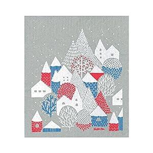 イーオクト スポンジワイプ 点と線模様製作所 冬の村 WX230015