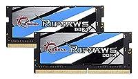 G。Skill 16GB ( 2x 8g ) Ripjawsシリーズddr4pc4–213002666MHz 260-pinノートパソコンメモリモデルf4–2666C18d-16grs
