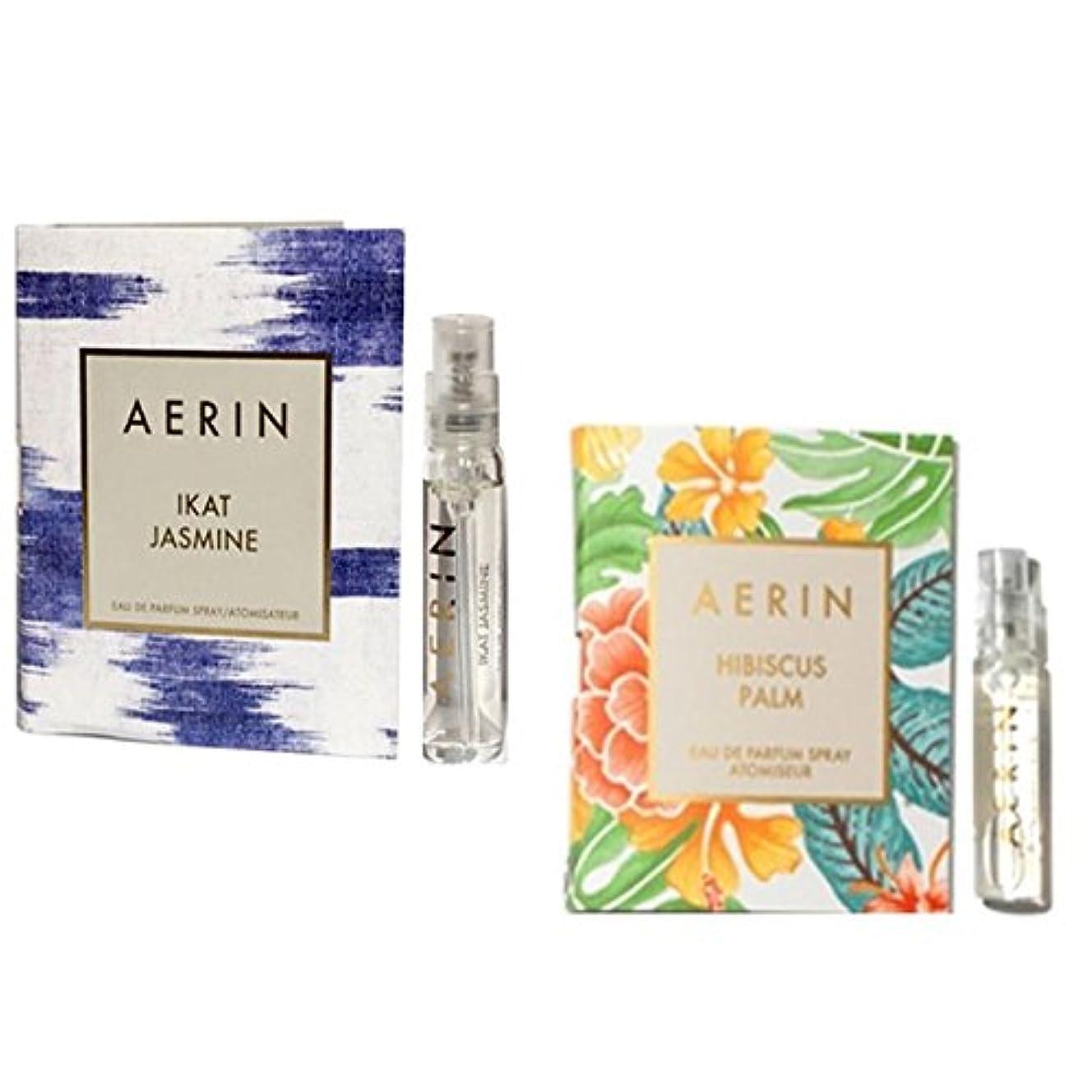 代表する終わり買収AERIN Ikat Jasmine 2ml & Hibiscus Palm 2ml Travel Size [海外直送品] [並行輸入品]