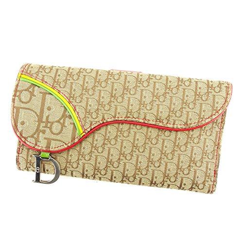 ディオール Dior 長財布 財布 Wホック レディース サドル型 ラスタ トロッター 中古 T6131