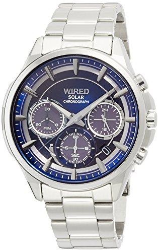 [ワイアード]WIRED 腕時計クオーツ WIRED APOLLOII ソーラークロノグラフモデル AGAD070 メンズ