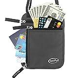 IntiPal パスポートケース ネックポーチ スキミング予防対策 RFID 海外旅行グッズ 防水 セキュリティ 貴重品入れ IDカードケース 防犯用品 iPhone 7S Plus収納可 4ポケット搭載 バレンタイン プレゼント ギフト