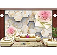 Weaeo 3D豪華な壁紙をカスタマイズする六角形の3D壁紙の写真の壁画の壁紙の壁紙-150X120Cm
