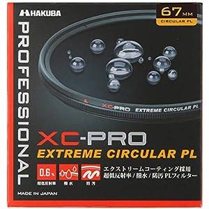 HAKUBA 67mm PLフィルター XC-PRO 高透過率 撥水防汚 薄枠 日本製 色彩強調・反射光抑制CF-XCPRCPL67
